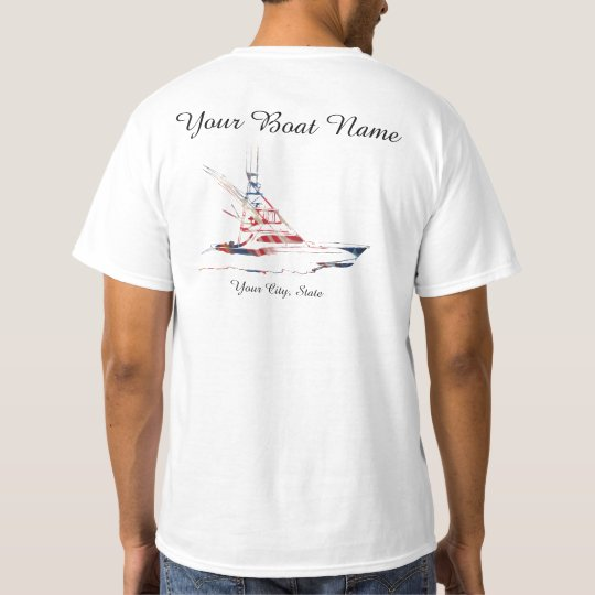custom boat name patriotic sport fishing boat t shirt