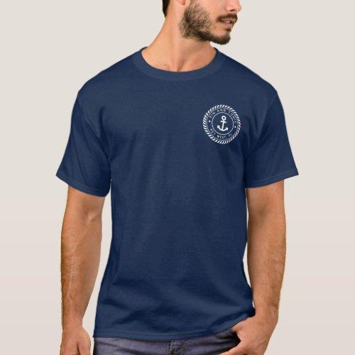 Custom Boat Name  Ships Registry Nautical Anchor T_Shirt