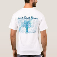 Custom Boat Name Spiny Lobster Shirt