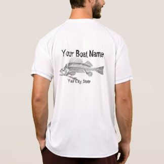 Custom Boat Name with Fish Bones Shirt