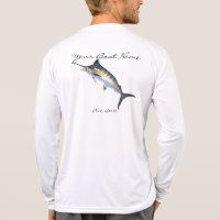 Custom Boat Name with Marlin. T-Shirt
