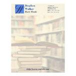 Custom Book Dealer Stationary Custom Letterhead