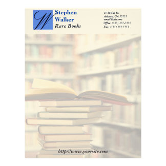 Custom Book Dealer Stationary Letterhead