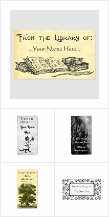 Custom Bookplates Vintage and Modern