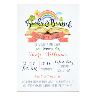 CUSTOM Books and Brunch Baby Shower Invitation