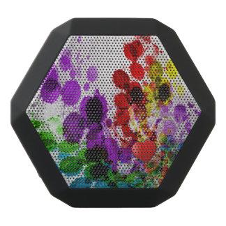 Custom Boombot REX, Black - Red Heart Splatter Black Bluetooth Speaker