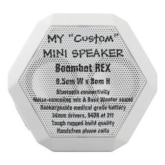 Custom Boombot REX Mini Speaker WHITE