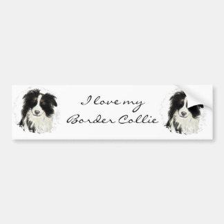 Custom Border Collie - Dog Collection Car Bumper Sticker