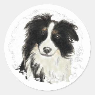 Custom Border Collie - Dog Collection Classic Round Sticker