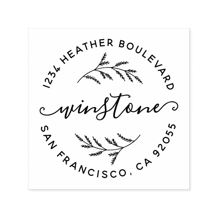 Botanical Custom Return Address Stamp 4
