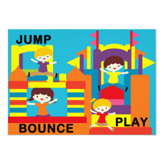 "Custom Bounce House Birthday 5x7"" Invitation 5"" X 7"" Invitation Card"