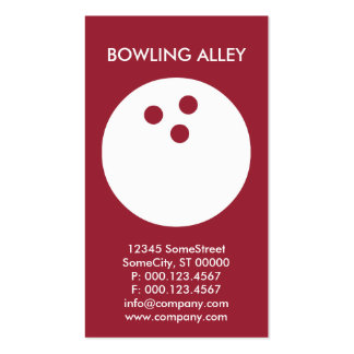 custom bowling alley business Double-Sided standard business cards (Pack of 100)