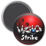 Custom Bowling Magnets Gifts