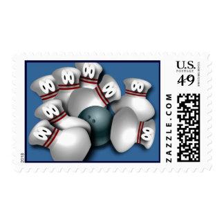 Custom Bowling postage