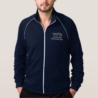 Custom bowling team apparel | Customizable name Track Jackets