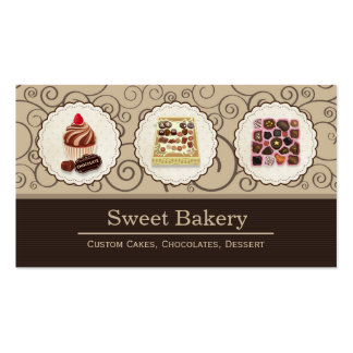 Custom Box of Chocolates Dessert Bakery Store Double-Sided Standard Business Cards (Pack Of 100)