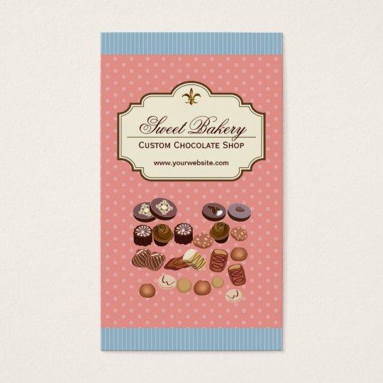 Custom Box of Chocolates Dessert Cupcake Store Business Card