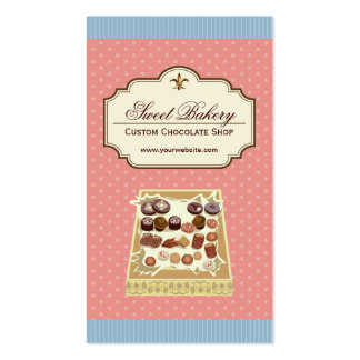 Custom Box of Chocolates Dessert Shop Store Business Cards