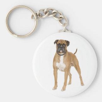 Custom Boxer Puppy Dog Love Keychain