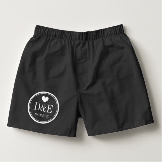 Custom boxer shorts and briefs for newlyweds groom boxers