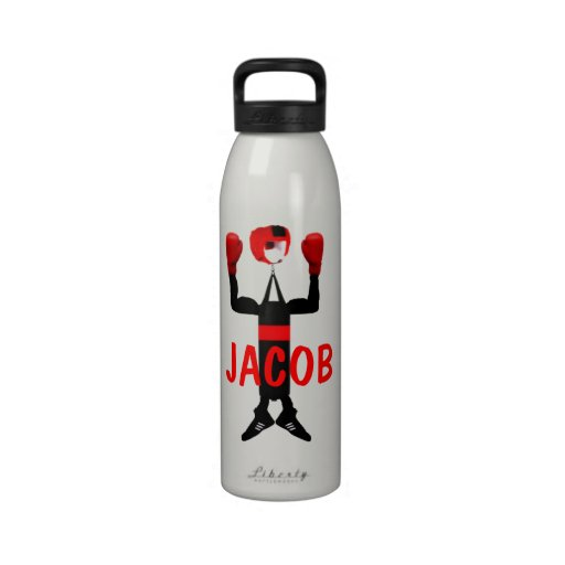 Custom Boxing Star Cartoon Reusable Water Bottle