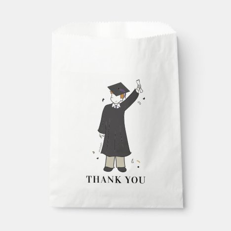 Custom Boy Avatar | High School Graduation Favor B Favor Bag