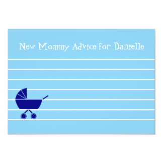 Custom Boy Baby Shower New Mommy Advice Cards