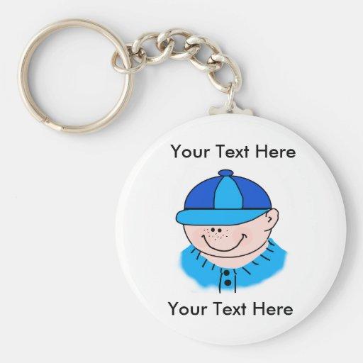Custom Boy Baseball Keychain