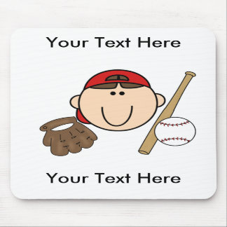 Custom Boy Baseball Mousepad - Customizable