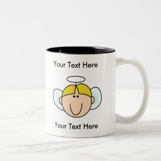 Custom Boy Blond Angel Mug - Customizable