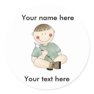 CUSTOM BOY CAMPING Sticker sticker