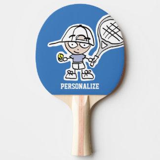 Custom boy cartoon table tennis ping pong paddle