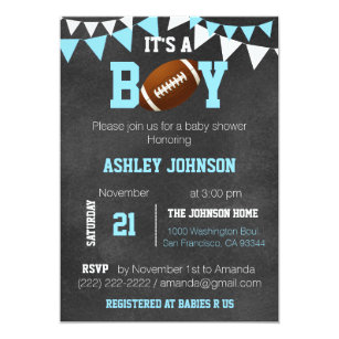 football baby shower invitations zazzle