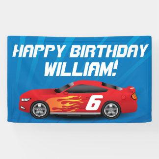 Custom Boys Race Car Birthday Party Banner