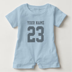 Custom Boys Sports Football Jersey Baby Romper at Zazzle