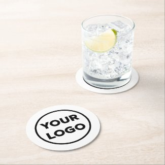 Custom Branded Business Company Logo Promotional Round Paper Coaster