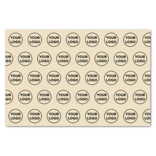 Custom Branded Business Logo Pattern on Kraft Tissue Paper