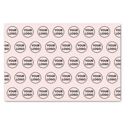 Custom Branded Business Logo Pattern on Light Pink Tissue Paper