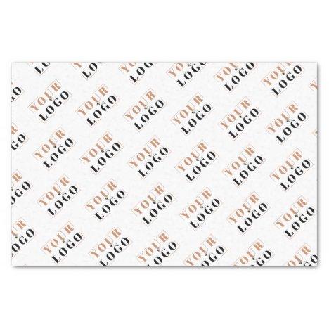 Custom branded tiled logo message tissue paper