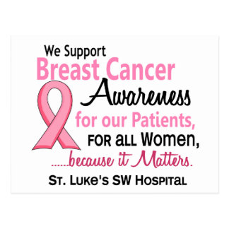CUSTOM Breast Cancer Awareness For Our Patients Postcard
