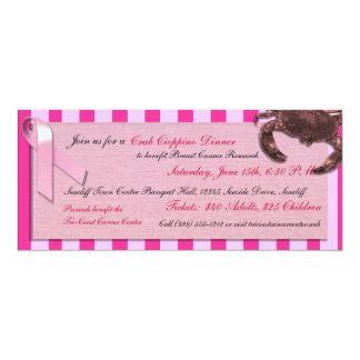 Custom Breast Cancer Benefit Crab Cioppino / Feed 4x9.25 Paper Invitation Card