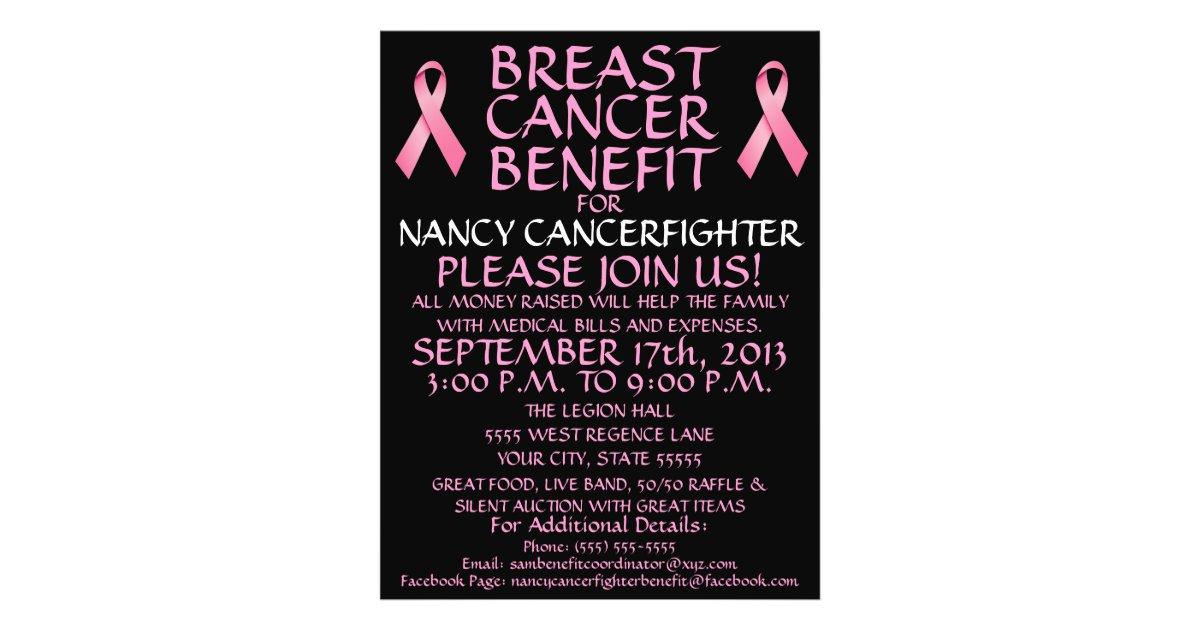 custom breast cancer benefit flyer. Black Bedroom Furniture Sets. Home Design Ideas