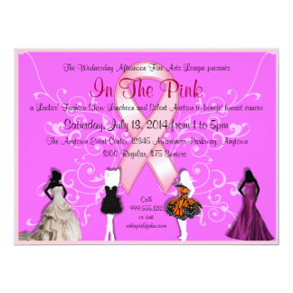 Custom Breast Cancer Event Invitations