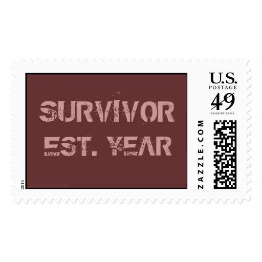 Custom Breast Cancer SURVIVOR Stamp