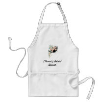 Custom Bridal Shower Apron-Use as guestbook! Adult Apron