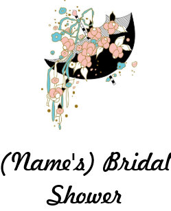 custom bridal shower apron use as guestbook adult apron