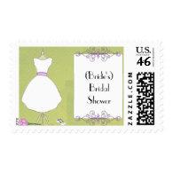 Custom Bridal Shower Invitation-Chic Dress Form Postage Stamps