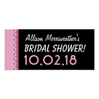 Custom BRIDAL SHOWER or Any Year PINK B01 Poster