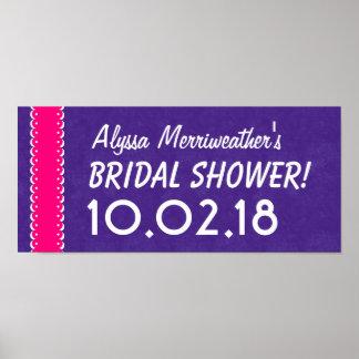 Custom BRIDAL SHOWER or Any Year ROYAL PURPLE B04 Poster