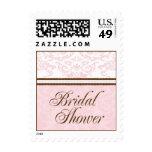 Custom Bridal Shower Small Postage-Blush & Brown
